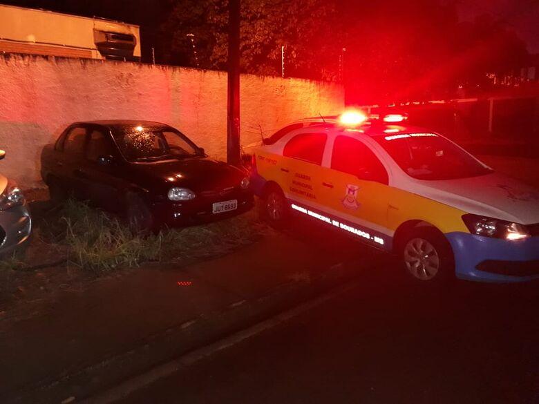 Veículo roubado foi recuperado, mas bandidos fugiram com o dinheiro do casal - Crédito: Divulgação/GMD