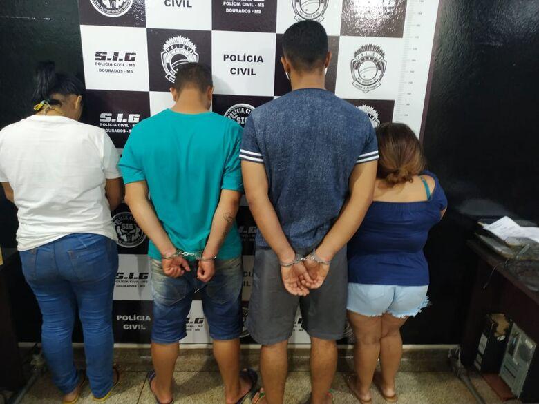 Dois homens e duas mulheres foram presos em flagrante - Crédito: Divulgação/SIG