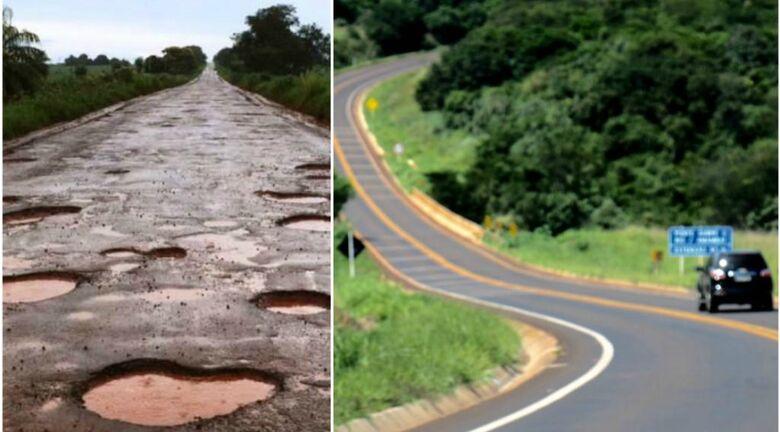 MS-156: antes e depois da restauração - Crédito: Daniel Túlio Munes / Chico Ribeiro