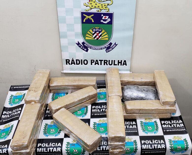 Jovem estava levando a droga para Costa Rica onde irar revende-la - Crédito: Divulgação/PM