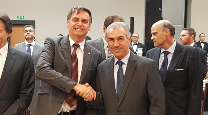 Presidente Jair Bolsonaro e governador Reinaldo Azambuja no Fórum de Governadores eleitos em 2018 - Crédito: Subcom/Arquivo