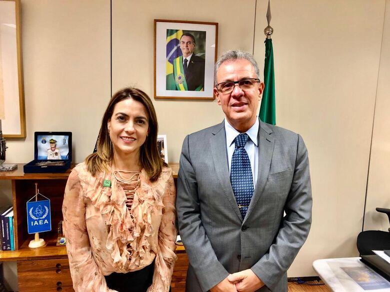 Senadora de MS se reuniu com o ministro - Crédito: Assessoria de Imprensa da senadora Soraya Thronicke