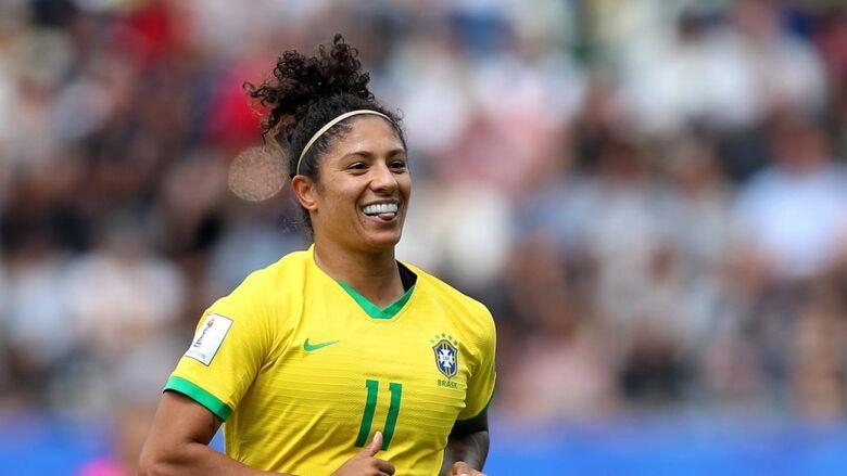 Camisa 11 marcou um hat-trick na vitória sobre a Jamaica, na estreia da Copa do Mundo Feminina - Crédito: FIFA/Getty Images