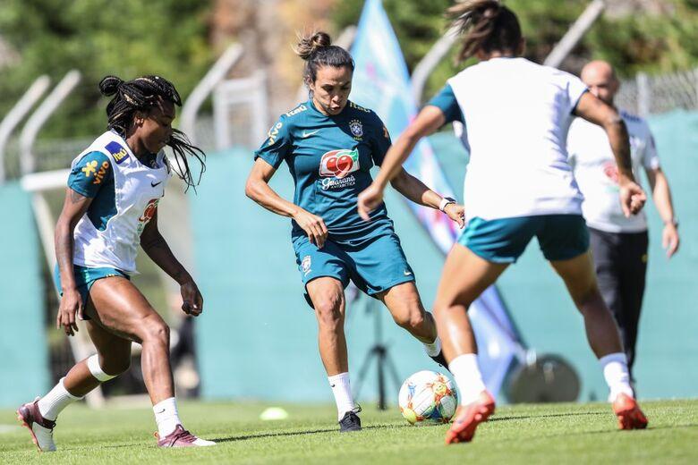 Seleção Feminina faz último treino antes de duelo com a Austrália na Copa do Mundo - Crédito: CBF