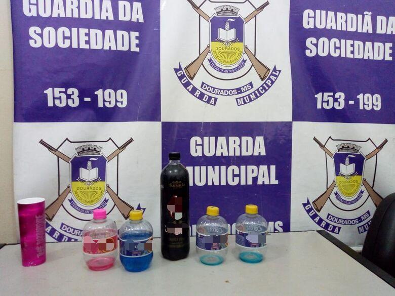 Bebidas encontradas com as menores nesta terça-feira - Crédito: Divulgação/GMD
