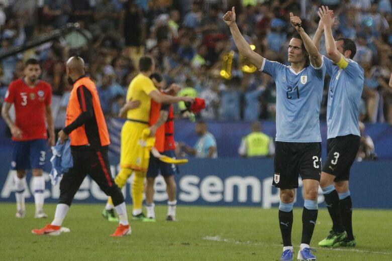 Cavani marcou o gol da vitória que deu a liderança do grupo C ao Uruguai - Crédito: Fernando Frazão/Agência Brasil