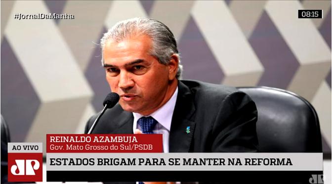 Governador falou com a equipe da Rádio Jovem Pan - Crédito: Divulgação