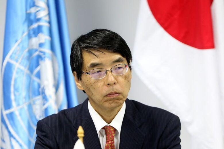 Embaixador do Japão no Brasil, Akira Yamada, durante assinatura de acordo de cooperação com quatro agências do Sistema ONU no Brasil - Crédito: Wilson Dias/Agência Brasil