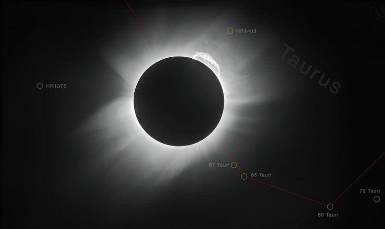 É a terceira vez em 50 anos que um eclipse passa por espaços com grades telescópios - Crédito: ESO / Landessternwarte Heidelberg-Königstuhl / F. W. Dyson, A. S. Eddington e C. Davidson