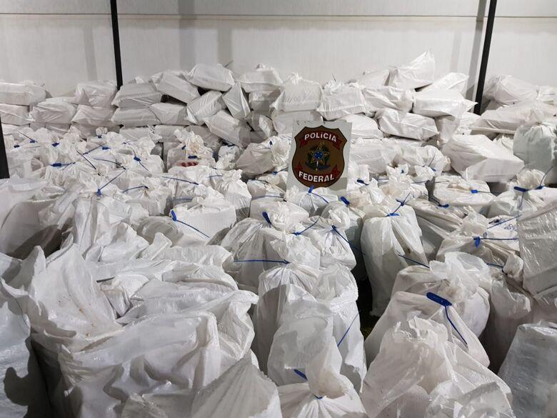 Droga apreendida pesou mais de 7 toneladas - Crédito: Divulgação/PF