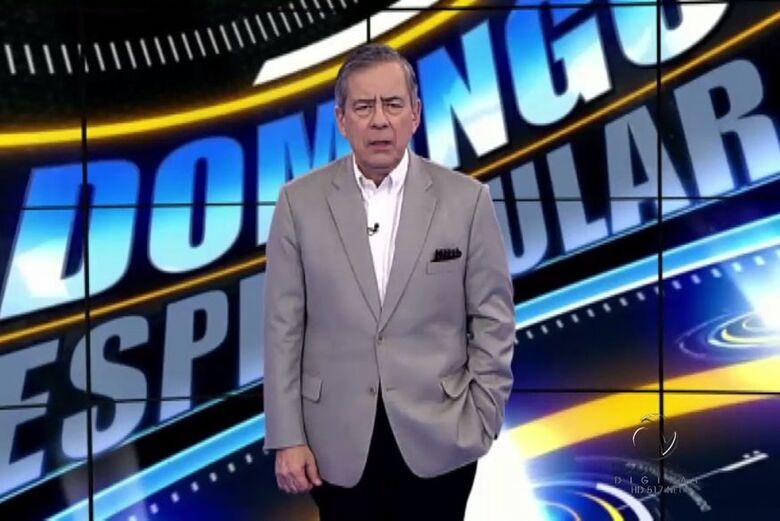 Amorim apresentava o Domingo Espetacular na Record - Crédito: Reprodução/TV Record
