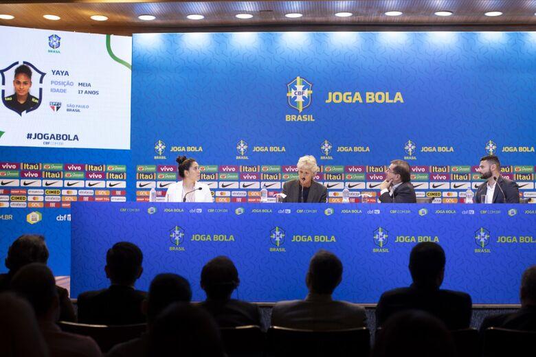 Treinadora sueca anunciou a primeira lista à frente da Seleção - Crédito: Lucas Figueiredo/CBF