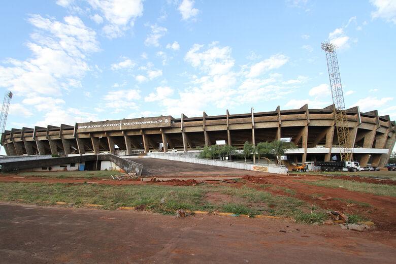 Entorno do Morenão já recebe obras de drenagem para projeto de multiuso do espaço pela UFMS - Crédito: Saul Schramm