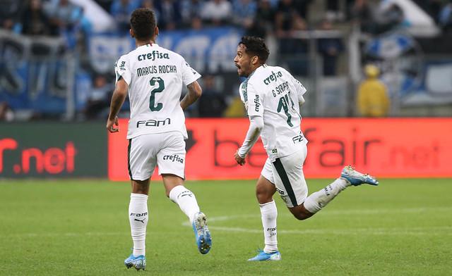Scarpa comemora gol marcado nesta terça-feira - Crédito: Divulgação/Palmeiras
