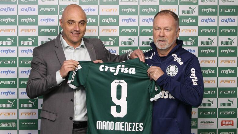 Palmeiras apresenta o técnico Mano Menezes - Crédito: Cesar Greco/Palmeiras