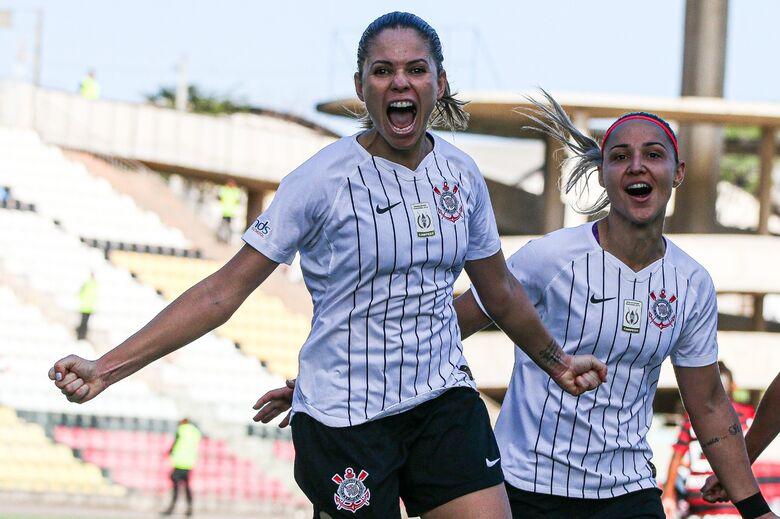 Corinthians vence o Flamengo e consegue a vantagem na semifinal do Brasileiro Feminino - Crédito: Bruno Teixeira/Agência Corinthians
