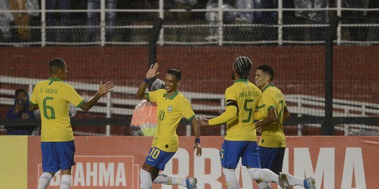 Pedrinho abriu caminho para a vitória brasileira - Crédito: Mauro Horita/CBF