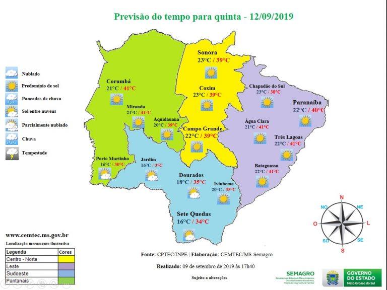 Quinta-feira terá céu claro a parcialmente nublado com névoa em Mato Grosso do Sul - Crédito: Divulgação