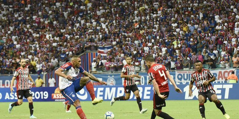 Bahia e São Paulo ficam no empate sem gols na Fonte Nova - Crédito: Malcon Robert/Agif/CBF