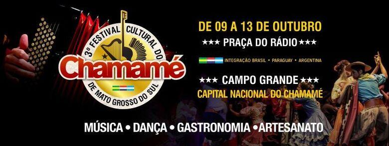 Terceira edição do Festival Cultural do Chamamé de MS começa nesta quarta-feira - Crédito: Divulgação