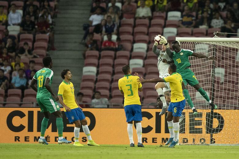 """Brasil fica só no empate com Senegal e Tite justifica: """"abaixo no normal"""" - Crédito: Lucas Figueiredo/CBF"""
