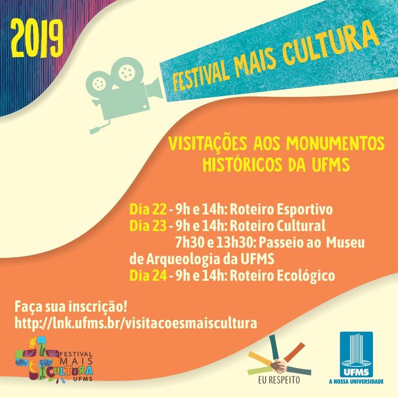 Festival Mais Cultura promove visitações aos monumentos históricos -