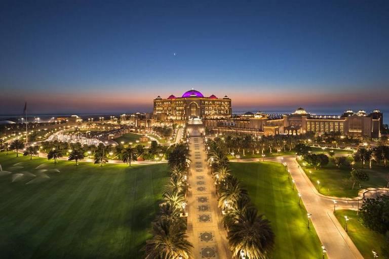 O hotel Emirates Palace, em Abu Dhabi - Crédito: Reprodução/Emirates Palace