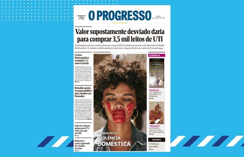 Edição nº 13.603 do jornal O Progresso destaca suposto desvio na Funsaud - Crédito: Divulgação