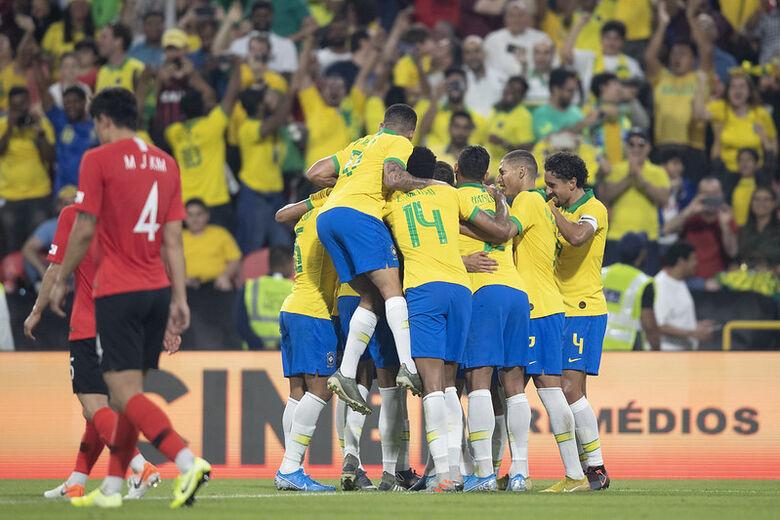 Brasil quebra jejuns e termina o ano com vitória sobre a Coreia do Sul - Crédito: Lucas Figueiredo/CBF