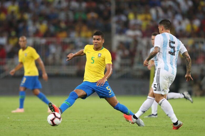 Seleção Brasileira enfrenta a Argentina nesta sexta-feira em Riade - Crédito: Lucas Figueiredo/CBF