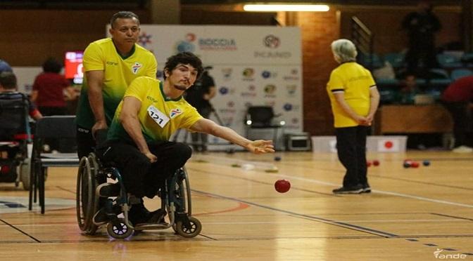Três-lagoense ajuda o Brasil a levar o bronze no Open Mundial de bocha paralímpica - Crédito: Divulgação