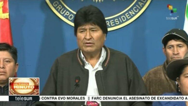 México concede asilo político a Evo Morales - Crédito: Reprodução Telesur