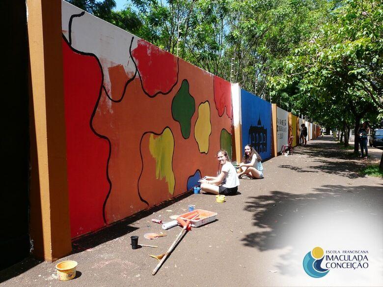 Muro da EIC ganhará novas obras de arte - Crédito: Divulgação EIC