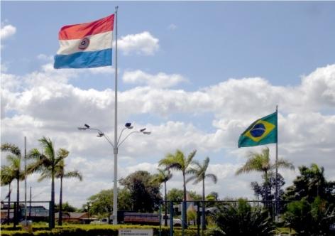 Fronteira entre Brasil e Paraguai na cidade de Pedro Juan Caballero - Crédito: divulgação