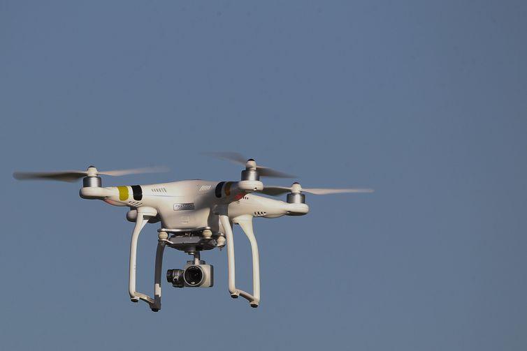 Drone testado no Japão pode levar pacotes de até 30 quilos - Crédito: Agência Brasília