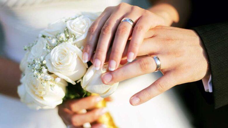 O número total de registros de casamentos civis foi de 1.053.467 em 2018, uma redução de 1,6% em relação ao ano anterior. - Crédito: Divulgação