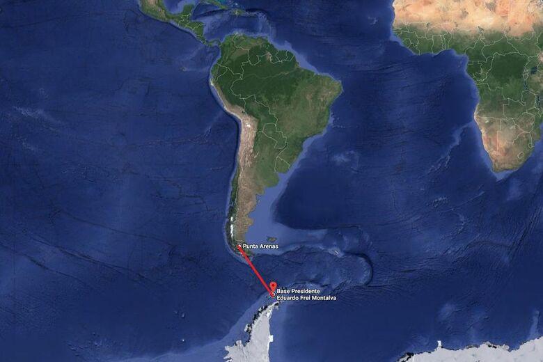 Chile descarta possibilidade de sobrevivente em queda de avião militar - Crédito: Divulgação/Google Maps
