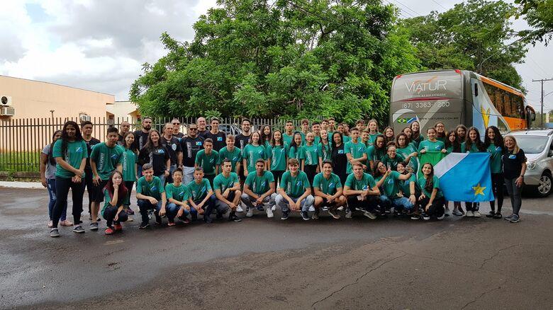 Delegação sul-mato-grossense nos jogos que encerram no dia 30 em SC - Crédito: Lucas Castro/Fundesporte