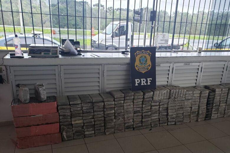 Apreensão de cocaína pela PF mais que dobrou em quatro anos - Crédito: Divulgação/PRF