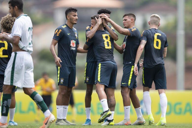 Brasil Sub-23 goleia Boavista em jogo-treino na Granja Comary - Crédito: Lucas Figueiredo/CBF