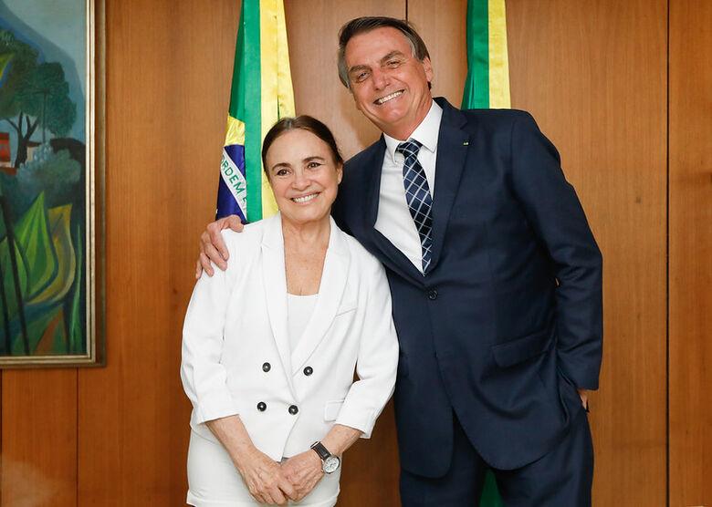 Nomeação de Regina Duarte deve ocorrer após viagem à Índia - Crédito: Planalto