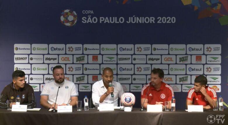 Grenal decide a Copa São Paulo de Juniores neste sábado - Crédito: Reprodução/TV FPF