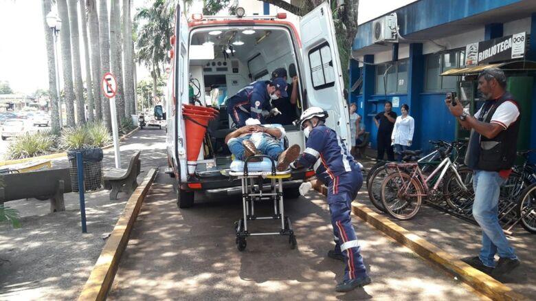 Feridos foram socorridos no Hospital da Vida - Crédito: Cido Costa