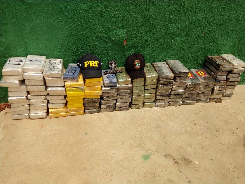Segundo dia de Operação em rodovia de MS apreende de mais de 125 quilos de cocaína - Crédito: Divulgação