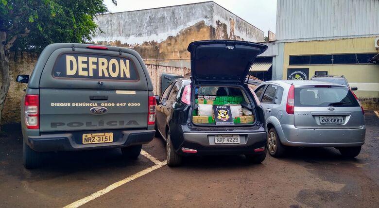 Carro foi recuperado pela Defron - Crédito: Divulgação
