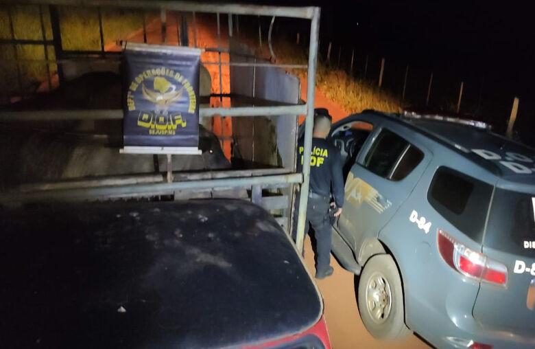O caminhão é de propriedade de uma fazenda no município de Panorama (PR) - Crédito: DOF