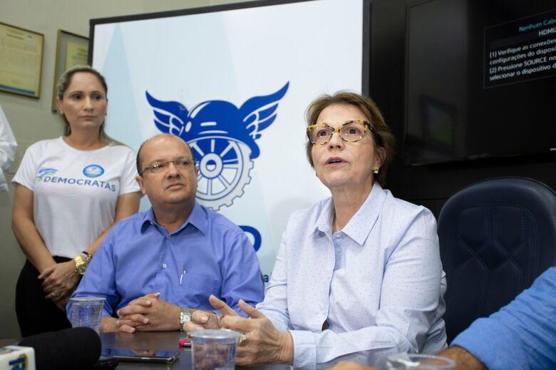 A ministra participou, em Dourados, neste sábado (15), da abertura da série de encontros que o Democratas - Crédito: João Garrigó