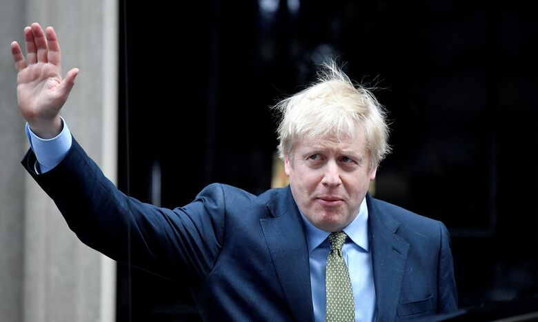 Primeiro-ministro do Reino Unido, Boris Johnson está com coronavírus - Crédito: Toby Melville