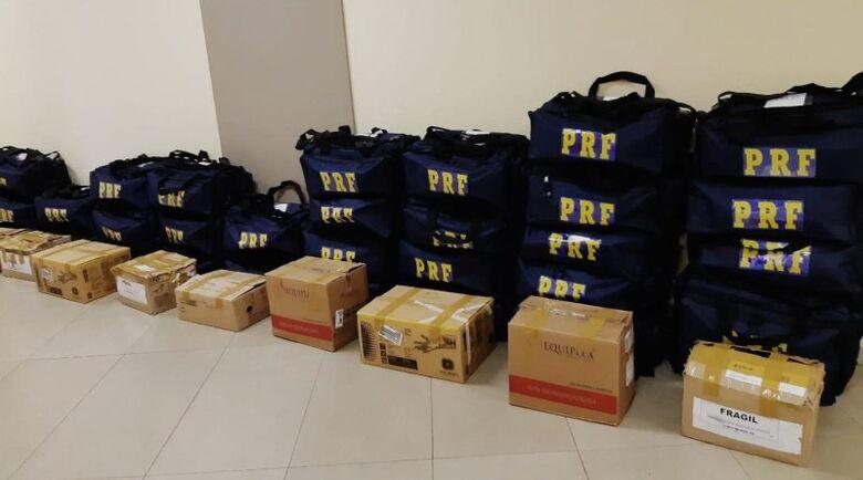 PRF distribui em MS Equipamentos de Proteção Individual para utilização em crise -