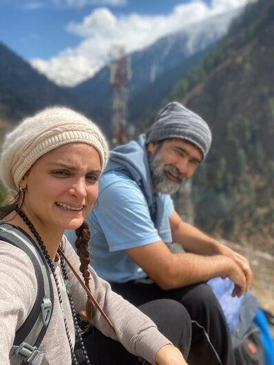 Casal de MS está no todo da Cordilheira do Himalaia após Índia decretar isolamento social. - Crédito: Arquivo Pessoal/Rede Social